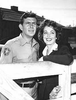 Adams samen met Andy Griffith in 1962
