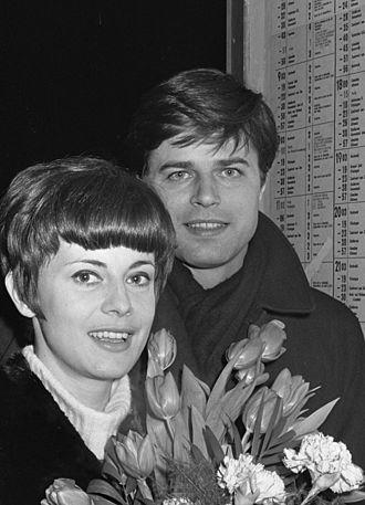 Anna Maria Ferrero - Ferrero and Jean Sorel in 1966