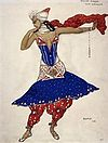 Anna Pavlova in Oriental Fantasy by L.Bakst