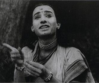 Raja Harishchandra - Anna Salunke as Sita in Lanka Dahan (1917)