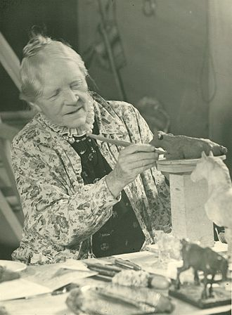 Anne Marie Carl-Nielsen - Anne Marie Carl-Nielsen working on a sculpture