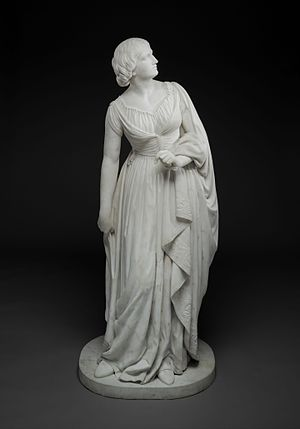 Anne Whitney - Lady Godiva, marble sculpture, by 1864, Dallas Museum of Art
