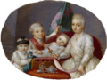 Anonymous Miniaturist - Miniature of Ludovico, Caroline, Maria Antonia and Maria Charlotte of Bourbon-Parma ONB.png
