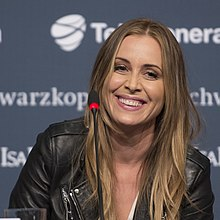 Anouk at a Eurovision 2013 press conference.