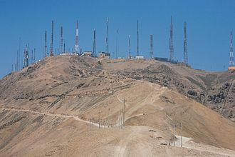 Morro Solar - Antennas above Chorrillos
