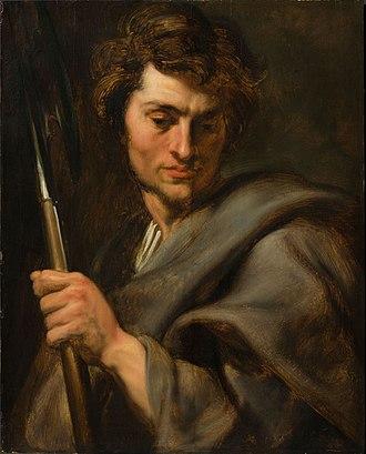 The Apostle Matthew - Image: Anthony van Dyck De apostel Mattheus L'apotre Matthieu Fonds Generet Koning Boudewijnstichting Fondation Roi Baudouin