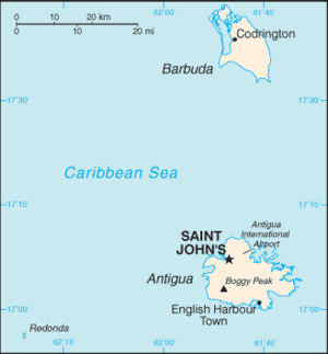 Geography of Antigua and Barbuda - Map of Antigua and Barbuda