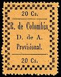 Antioquia 1890 20c provisional Sc88 unused.jpg