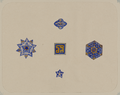 Antiquities of Samarkand. Madrasah of Bibi Khanym. Congregational Mosque (Friday Mosque). Samples of Tiles Used to Decorate Exterior Walls WDL3932.png