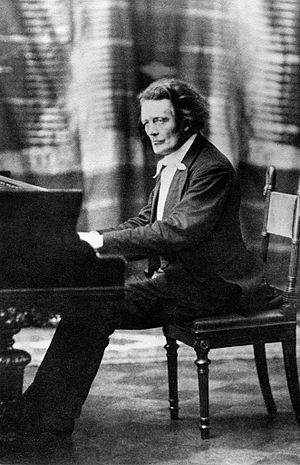 Anton Rubinstein - Rubinstein at the piano.