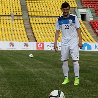 Kyrgyzstan national football team - Anton Zemlianukhin is the top scorer in the history of Kyrgyzstan with 12 goals