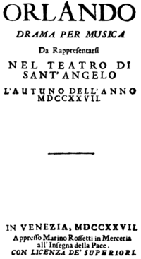 Antonio Vivaldi - Orlando - titlepage of the libretto, Venice 1727.png