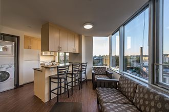 Wentworth Institute of Technology - The interior of a Wentworth apartment at 525 Huntington Avenue