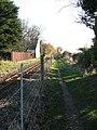Approaching the level crossing on Belaugh Green Lane - geograph.org.uk - 1059261.jpg
