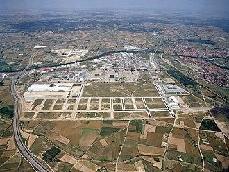 Aranda de Duero - Image: Aranda de Duero Aerea