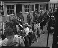 Arcadia, California. Evacuees of Japanese ancestry arriving at the Santa Anita Assembly center from . . . - NARA - 537397.tif