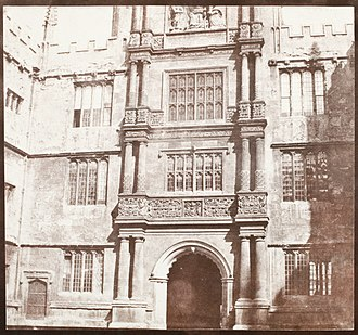 Bodleian Library - The Tower of the Five Orders photographed by Henry Fox Talbot, c. 1843/46
