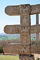 Architraves East Ends - Rear Side - West Gateway - Stupa 1 - Sanchi Hill 2013-02-21 4485.JPG