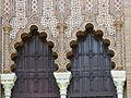 Arcos polilobulados, Pabellón mudéjar, Sevilla, España, 2015.JPG