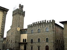 The Communal Palace in Arezzo.