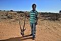 Arri Raats, Kalahari Khomani San Bushman, Boesmansrus camp, Northern Cape, South Africa (19917678794).jpg