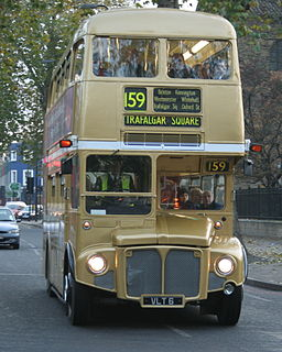 Arriva London (SP) Routemaster bus RM6 (VLT 6), route 159 second to last day