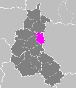 Location of Sainte-Menehould in Champagne-Ardenne