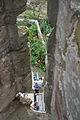 Arrowslit at Stokesay Castle.jpg