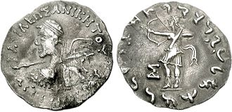 Artemidoros Aniketos - Artemidoros holding spear.