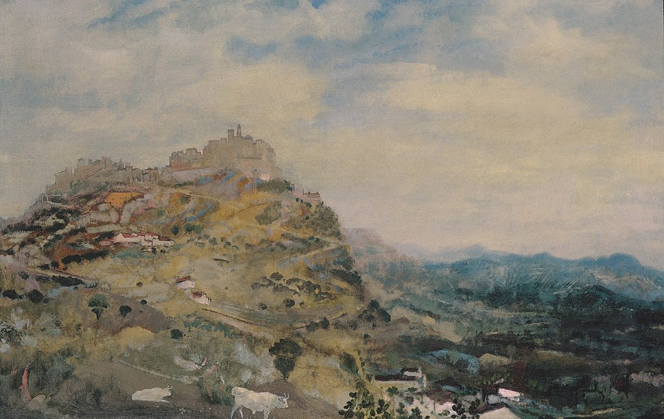 Arthur B Davies - Italian Hill Town