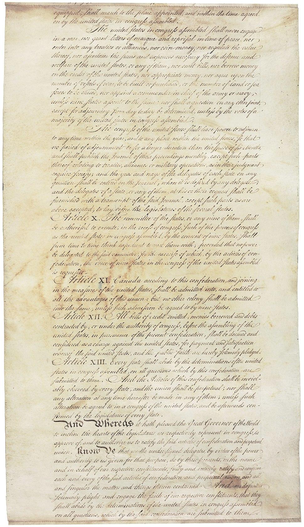 Articles of Confederation 9-13