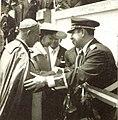 Arzobispo monseñor Luis Chavez y González y el presidente Teniente Coronel José María Lémus durante un acto Oficial, 1958.jpg