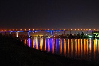 Asparuhov most - Asparuhov most at night