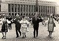 Aspect de la sosirea în țara noastră într-o vizită oficială, a președintelui R.S. Cehoslovace, Gustav Husak. În Piața Victoriei. (22-25 iunie 1977).jpg