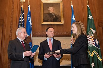 Rachel Brand - Rachel Brand being sworn in as the United States Associate Attorney General by Attorney General Jeff Sessions.