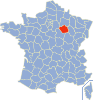 Communes of the Aube department - Image: Aube Position