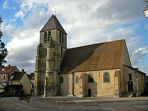 Aubergenville - The church in Aubergenville