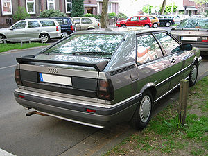 Audi Coupé (B2) - Rear view of facelift Coupé GT
