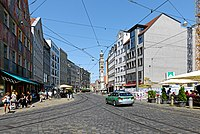 Augsburg Maximilianstraße Blick zum Perlachturm B.jpg