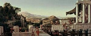 August Ahlborn - Image: August Wilhelm Julius Ahlborn Blick in Griechenlands Blüte Google Art Project