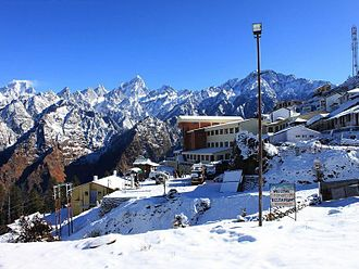 Auli - View of Auli Hill station