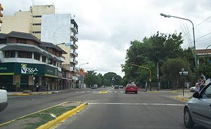 Adrogué - An Adrogué landmark: Espora Ave., at its intersection with Esteban Adrogué St.
