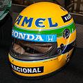 Ayrton Senna 1987 helmet front-left 2015 Honda Collection Hall.jpg