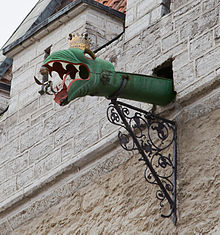 Dragon Headed Gargoyle Of The Tallinn Town Hall Estonia