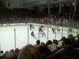 2012–13 Boston College Eagles men's ice hockey season - Merrimack vs. BC at Kelley Rink on Nov. 16, 2012. BC won 4-3.