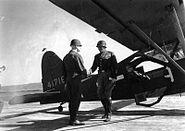 BG John L. Pierce, George S. Patton at the Pilsen airport