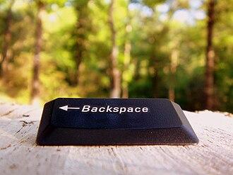 Backspace - A backspace key