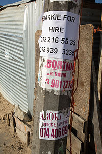 Bakkie for Hire, Abortion sign, Joe Slovo Park, Cape Town, South Africa-3377.jpg