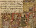 Balami - Tarikhnama - Yusuf escapes from Zulaykha (cropped).jpg
