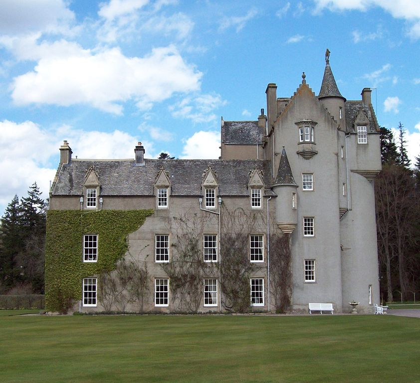 Ballindalloch castle with plants growing up the walls